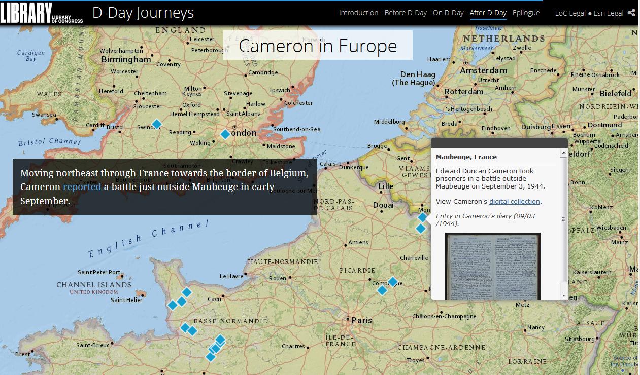 Screenshot of map of Northern Europe.