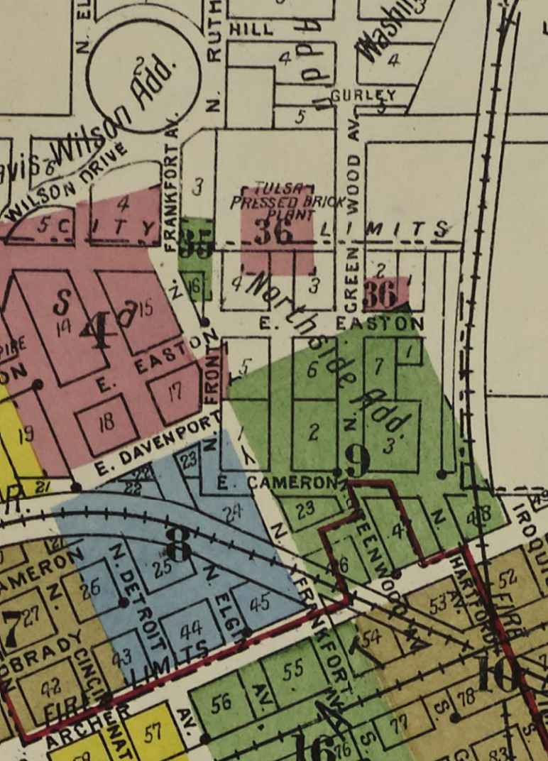 Overview map of the Greenwood District, in a 1915 map